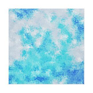 Impressão Em Tela arte abstracta da mancha do bkue