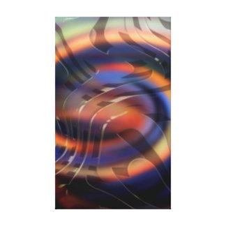 Impressão Em Tela Arte abstracta das novas ondas