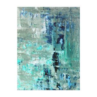 "Impressão Em Tela Arte abstracta ""generosa"" de turquesa"