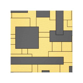 Impressão Em Tela Arte abstracta geométrica cinzenta amarela