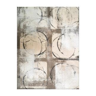 """Impressão Em Tela Arte abstracta neutra """"aterrada"""""""