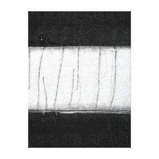 """Impressão Em Tela Arte abstracta preto e branco """"silenciado"""""""