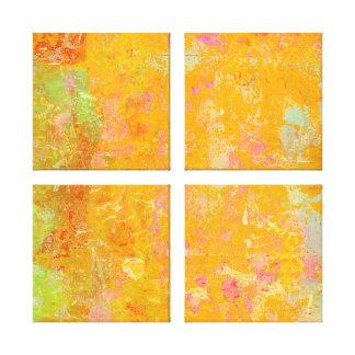 Impressão Em Tela Arte abstracta que pinta o verde rosa vermelha do