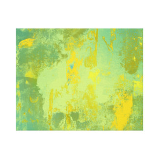 Impressão Em Tela Arte abstracta verde e amarela