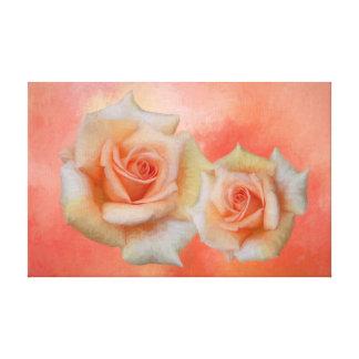Impressão Em Tela Arte abstrata da parede dos rosas alaranjados