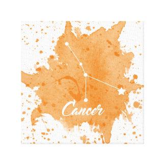 Impressão Em Tela Arte alaranjada da parede do cancer