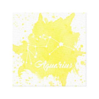 Impressão Em Tela Arte amarela da parede do Aquário