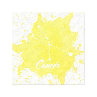 Impressão Em Tela Arte amarela da parede do cancer