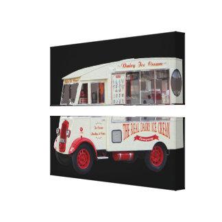 Impressão Em Tela Arte antiga da parede do caminhão do sorvete