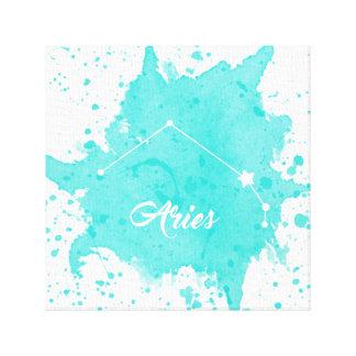 Impressão Em Tela Arte azul da parede do Aries