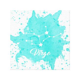 Impressão Em Tela Arte azul da parede do Virgo