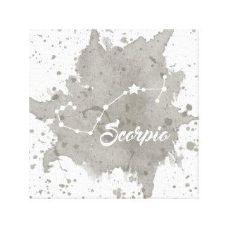 Impressão Em Tela Arte cinzenta da parede da Escorpião