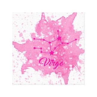 Impressão Em Tela Arte cor-de-rosa da parede do Virgo