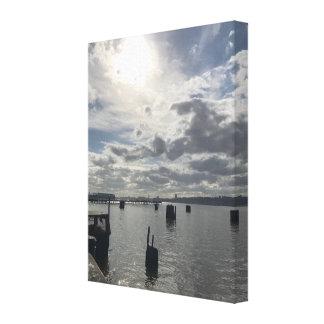 Impressão Em Tela Arte da fotografia do Rio Hudson, Nova Iorque NYC