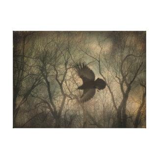 Impressão Em Tela Arte da natureza do corvo da floresta