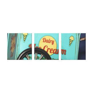 Impressão Em Tela Arte da parede do caminhão do gelado do vintage