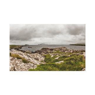 """Impressão Em Tela """"Arte da parede do litoral irlandês áspero"""""""