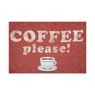 Impressão Em Tela Arte da parede do sinal do café do vintage
