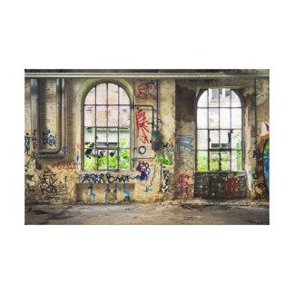 Impressão Em Tela Arte de construção abandonada Windows da rua do