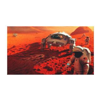 Impressão Em Tela Arte do conceito da missão equipada futuro de