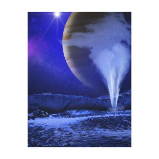 Impressão Em Tela Arte do conceito do Europa da lua de Jupiter da