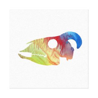 Impressão Em Tela Arte do crânio da cabra