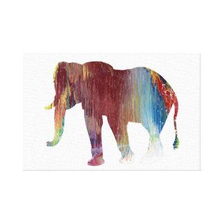 Impressão Em Tela Arte do elefante