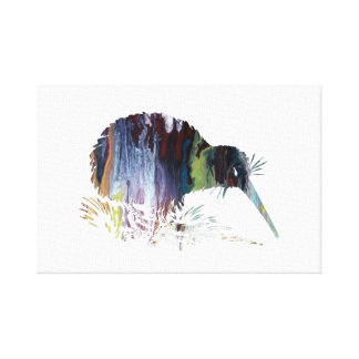 Impressão Em Tela Arte do pássaro do quivi