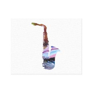 Impressão Em Tela Arte do saxofone
