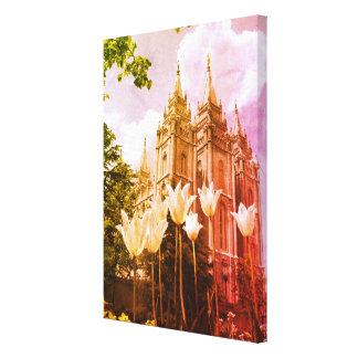 Impressão Em Tela Arte do templo de Mormon de Salt Lake City