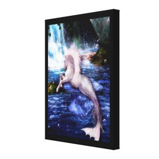 Impressão Em Tela Arte eqüino da fantasia de Hippocamp Merhorse