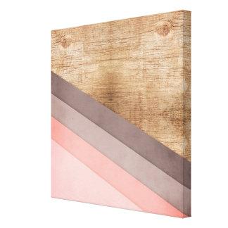 Impressão Em Tela Arte geométrica de madeira