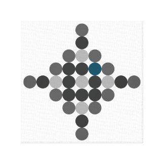 Impressão Em Tela Arte geométrica do Aqua cinzento & azul