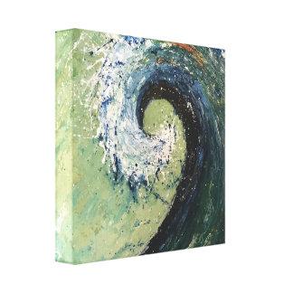 Impressão Em Tela Arte litoral da onda da praia da casa de campo