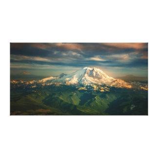 Impressão Em Tela Arte majestosa da foto do Monte Rainier