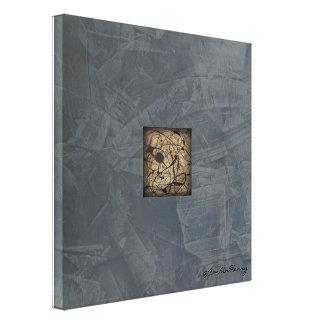 Impressão Em Tela Arte moderna do estilo do Pollock das cinzas de
