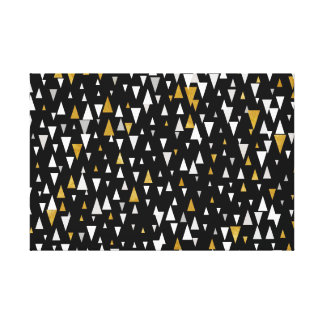 Impressão Em Tela Arte moderna do triângulo - ouro preto