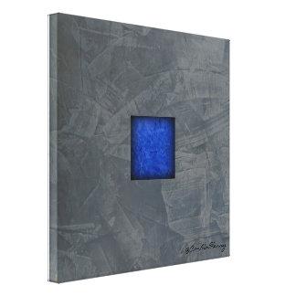Impressão Em Tela Arte moderna dos azuis cobaltos das cinzas de