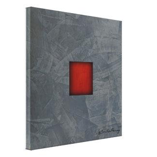 Impressão Em Tela Arte moderna vermelha dramática das cinzas de