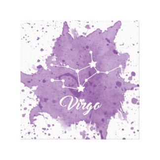 Impressão Em Tela Arte roxa da parede do Virgo