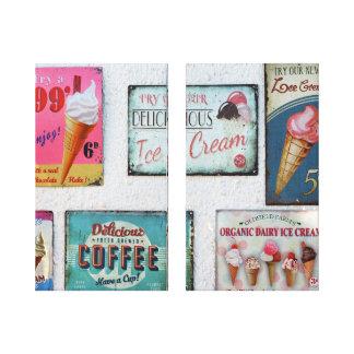 Impressão Em Tela Arte saboroso da parede do sorvete