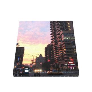 Impressão Em Tela Arte superior da foto do por do sol NYC New York