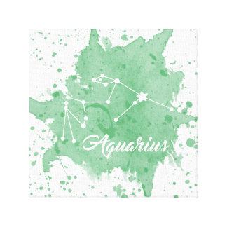 Impressão Em Tela Arte verde da parede do Aquário