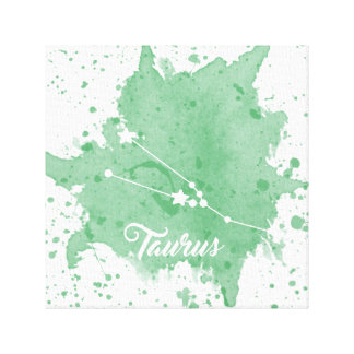 Impressão Em Tela Arte verde da parede do Taurus
