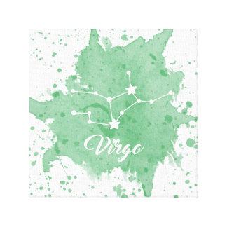 Impressão Em Tela Arte verde da parede do Virgo