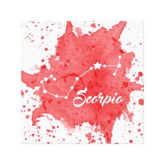 Impressão Em Tela Arte vermelha da parede da Escorpião