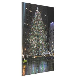 Impressão Em Tela Árvore Center NYC de Rockefeller do Natal de New