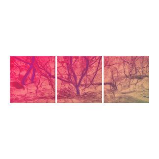 Impressão Em Tela Árvore cor-de-rosa do por do sol da arte abstracta