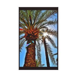Impressão Em Tela Árvore da data da tarde