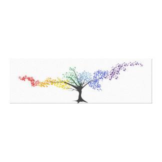 Impressão Em Tela Árvore de borboletas coloridas